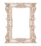 Vintage classical white rectangle frame Royalty Free Stock Photos