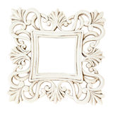 Vintage classical white rectangle frame. Isolated on white Royalty Free Stock Photo
