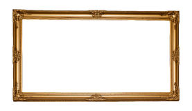 Vintage classical wooden rectangle frame Royalty Free Stock Photo