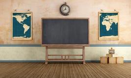 Vintage Classroom royalty free illustration