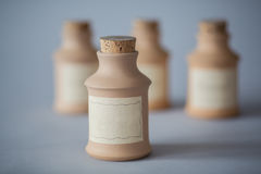Vintage clay container Royalty Free Stock Photography