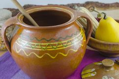 Vintage clay pottery Stock Image