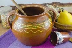 Vintage clay pottery Royalty Free Stock Photo