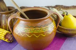 Vintage clay pottery Royalty Free Stock Photos