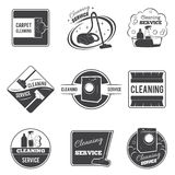 Vintage cleaning service vector logos, emblems Stock Photography