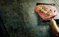 Vintage cleaver and Beef Carpaccio Royalty Free Stock Image