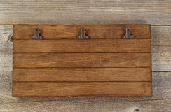 Vintage clipboard on old wooden desk Stock Photography
