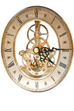 Vintage Clock. Isolated vintage clock on white background Royalty Free Stock Photography