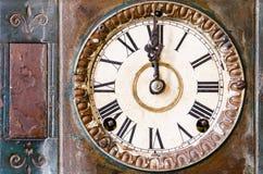 Vintage clock. Old Vintage clock retro background Royalty Free Stock Image