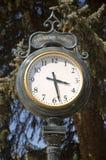 Vintage Clock. Vintage cast iron street clock Stock Images