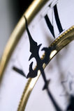 Vintage Clock. Photo taken using a lensbaby. Blur is intentional Stock Photo
