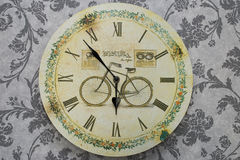 Vintage clock. On the wall Royalty Free Stock Photography