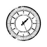 Vintage_clock_black 库存例证