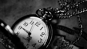 Vintage, Clock, Black And White Royalty Free Stock Photo