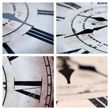 Vintage clock. Collage with details of some vintage clocks Stock Images