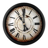 Vintage clock. 3d design of a clock at eleven o´clock Royalty Free Stock Photography