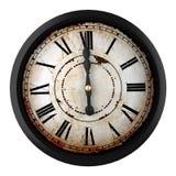 Vintage clock. 3d design of a clock at twelve o´clock Stock Image