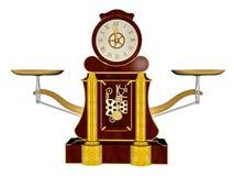 Vintage clock - 3D render Royalty Free Stock Photos