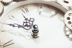 The vintage clock Stock Photos