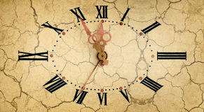 Vintage clock dial Stock Photos