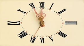 Vintage clock face Stock Images