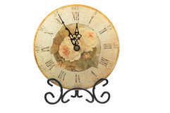 Vintage clock-face with roses Stock Image