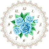 Vintage clock face with roses Stock Photos