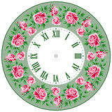Vintage clock face with roses Royalty Free Stock Photo
