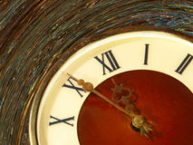 Vintage clock face taken closeup. Stock Images