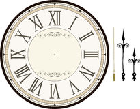 Vintage Clock Face Template Royalty Free Stock Photography