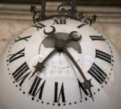 Vintage clock glass made Stock Photos