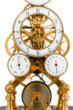 Vintage clock. In golden and white colors Stock Image