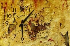 Vintage clock grunge background. (Grungy paper Stock Images