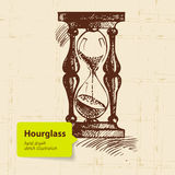 Vintage clock hourglass Stock Photo