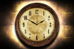 Vintage Clock Illustration Royalty Free Stock Photos