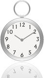 Vintage clock. Illustration of a portable vintage clock Royalty Free Stock Images