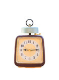 Vintage clock isolated Stock Photo