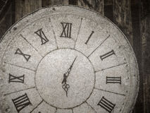 Vintage clock in lather texture background Stock Photos