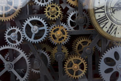 Vintage clock mechanism Stock Images