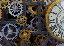Vintage clock mechanism Royalty Free Stock Photos