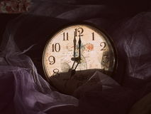 Vintage clock in the morning Stock Photo
