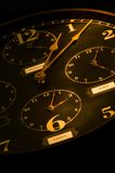 Vintage Clock with mulitple faces Stock Photos