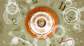Vintage clock with numbers on the side Royalty Free Stock Image