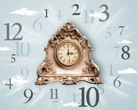 Vintage clock with numbers on the side Royalty Free Stock Photography