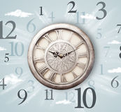 Vintage clock with numbers on the side Stock Photography