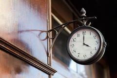 Free Vintage Clock On A Wooden Wall Stock Photos - 88481553