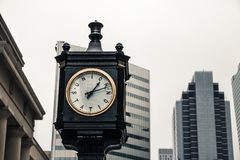 Vintage clock outside Union Station royalty free stock photos