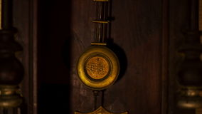 Vintage Clock Pendulum stock video footage