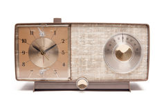 Vintage Clock Radio Isolated Royalty Free Stock Image