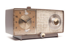 Vintage Clock Radio Isolated Royalty Free Stock Photo